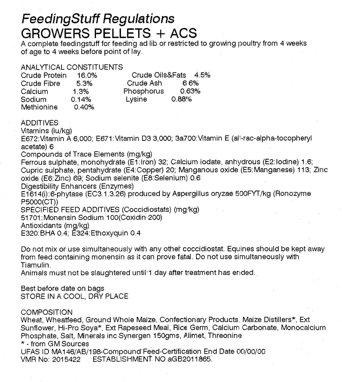 25kg Poultry Grower Pellets - 16% Protein + ACS Croston Corn Mill