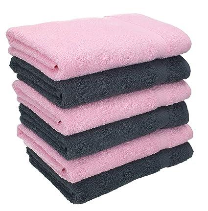 Betz 8 tlg.Handtuch Set PALERMO 2 Duschtücher 6 Handtücher rose
