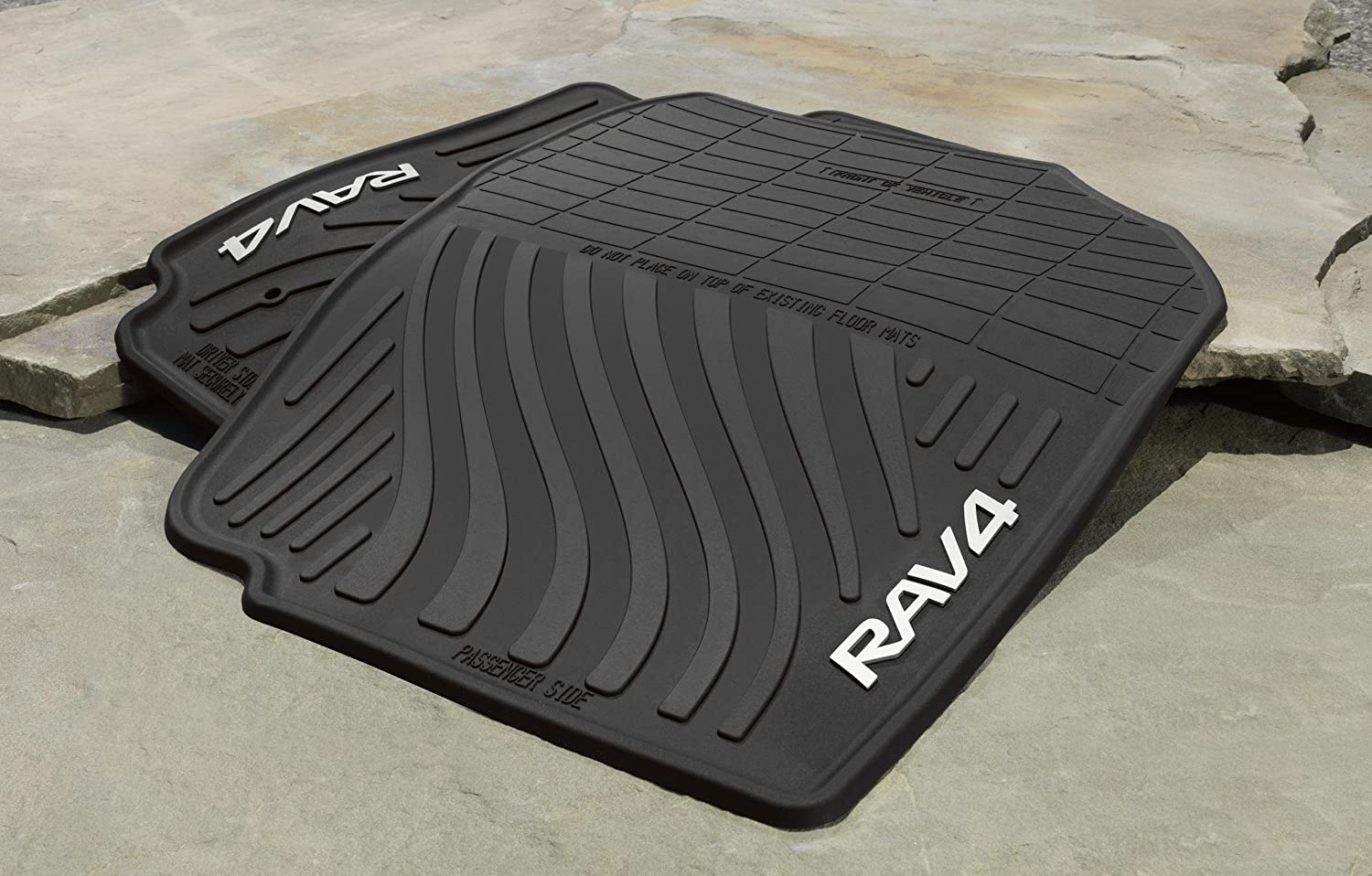 Weathertech floor mats rav4 2012 - Amazon Com Genuine Toyota All Weather Floor Mats For 2007 2012 Toyota Rav4 Set Of 4 New Oem Automotive