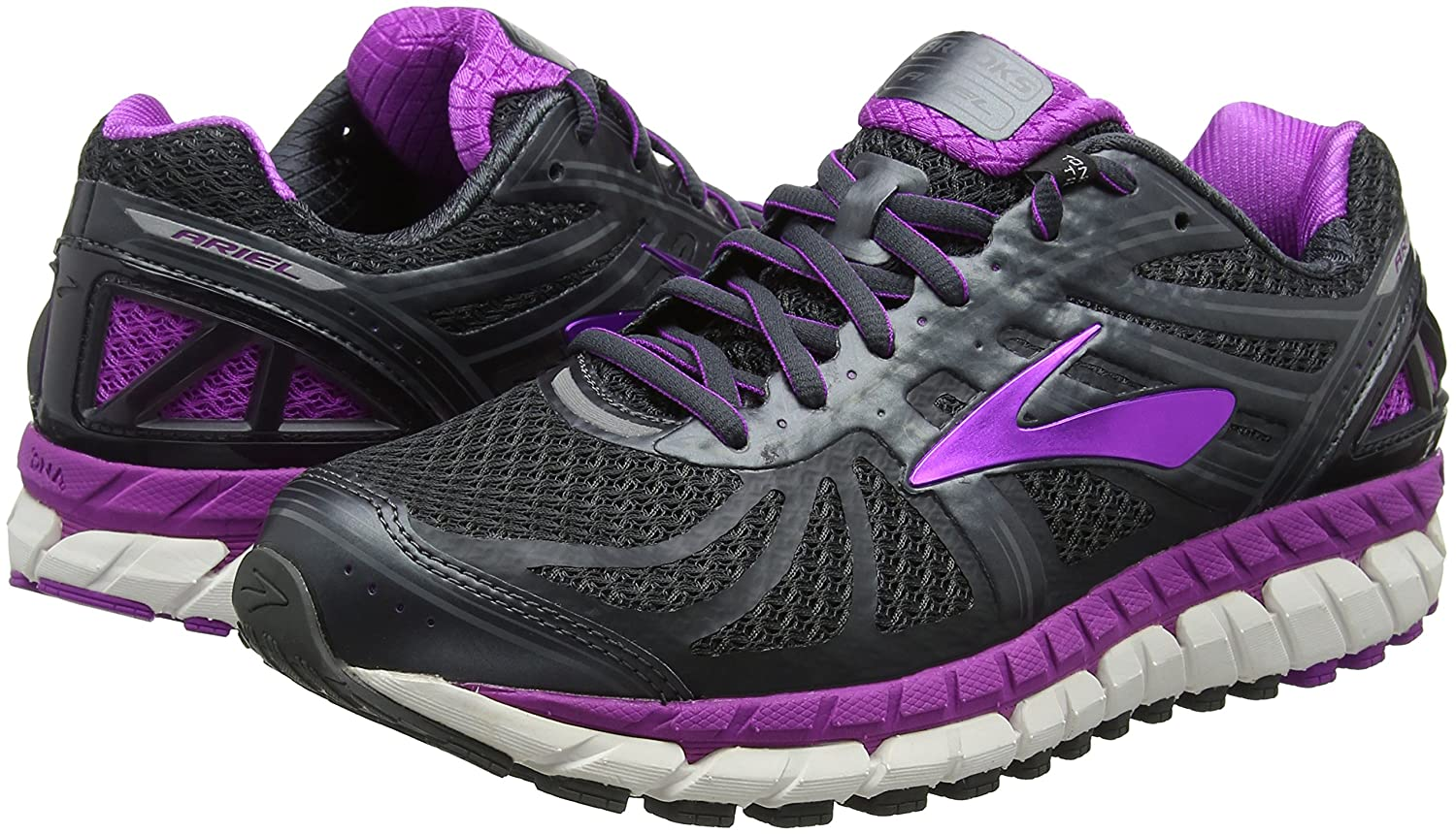 Brooks Womens Ariel '16 Overpronation Stability Running Shoe B01MSJLBR0 12 B(M) US|Anthracite/Purple Cactus Flower/Primer Grey