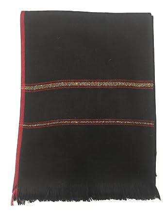 b96b8deea3e Pashtush Mens Thick Shawl,Gents Lohi, Woven Kinauri Design, Australian  Merino Wool, Full Size 50 x100 Inches