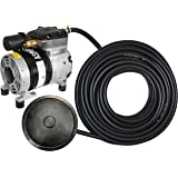 Value Pond Aeration Kit   Improve Water Quality   1/4 Hp Rocking Piston Aerator + 100' of Weighted Tubing + Self Sink Diffuser
