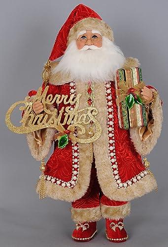 Karen Didion Christmas Elegance Santa Figurine, 17 inches
