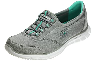 Skechers Glider Fun Vibes Women's Fashion Sneakers, Grey/White/Turquoise,  ...