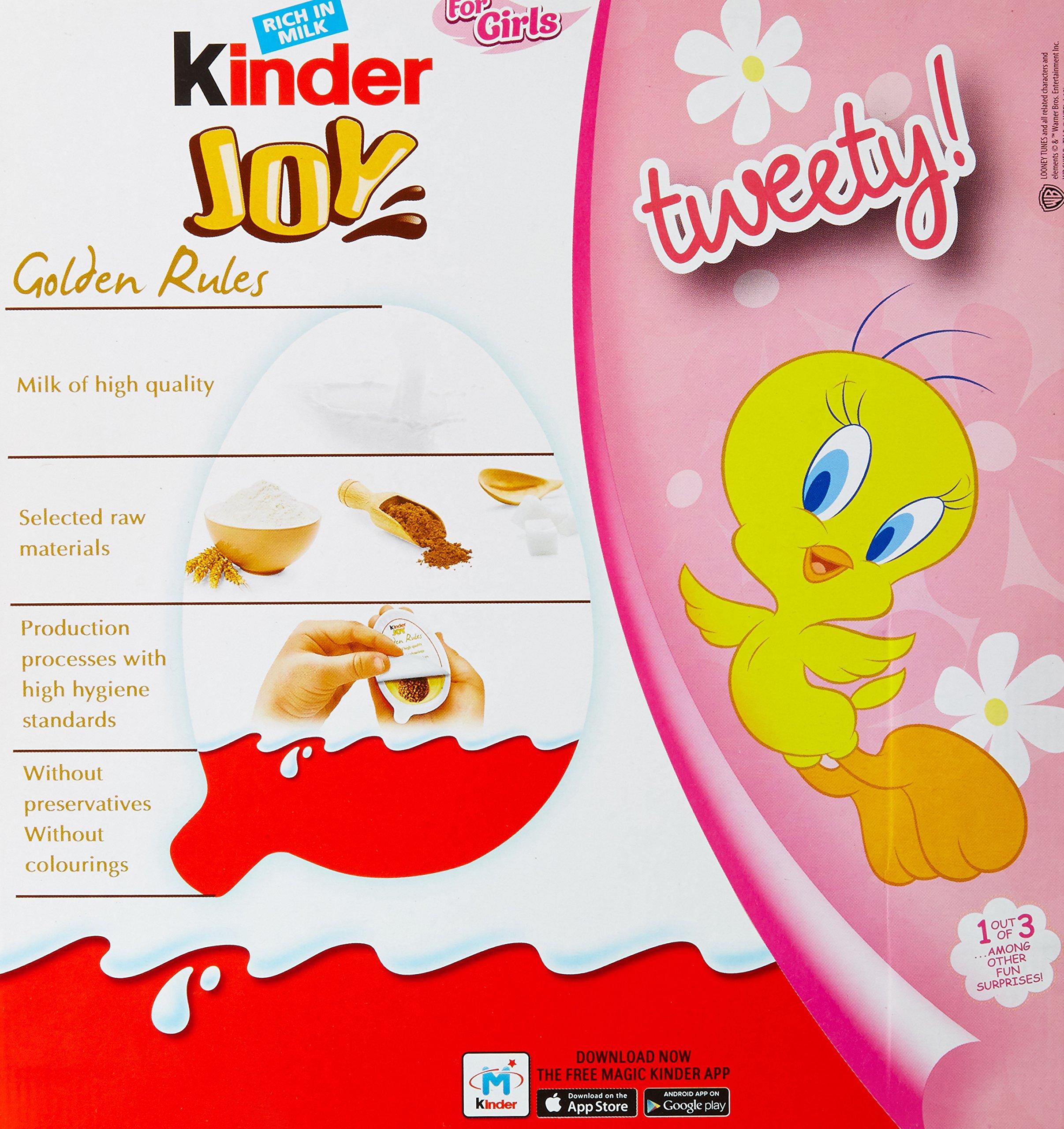 Kinder Joy Chocolates For Girls, 24 Pieces