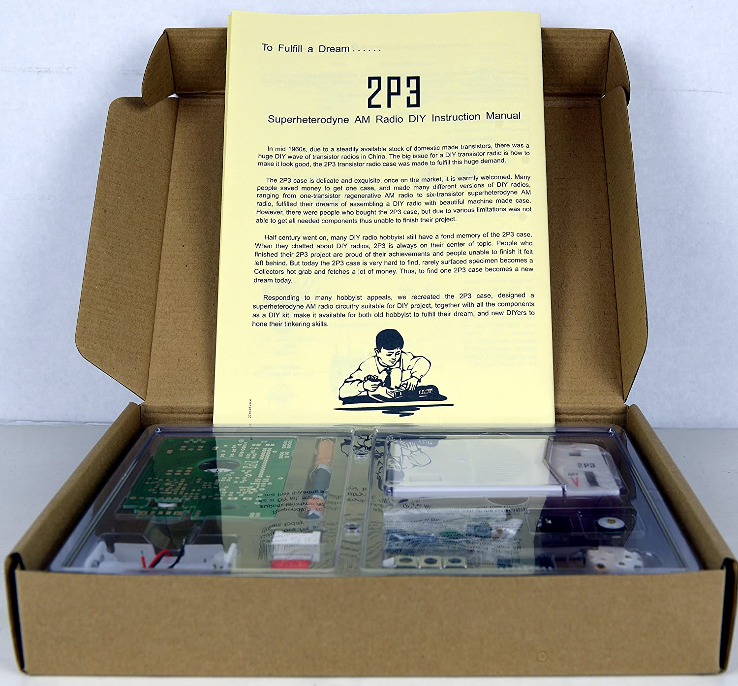 Tecsun 2p3 Am Radio Receiver Kit Diy For Enthusiasts Details About Create Your Own Fm Transistor Circuit Board Built It Into A Case Toys Games
