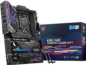 MSI MPG Z590 Gaming Edge WiFi Gaming Motherboard (ATX, 11th/10th Gen Intel Core, LGA 1200 Socket, DDR4, PCIe 4, CFX, M.2 Slots, USB 3.2 Gen 2, Wi-Fi 6E, DP/HDMI, Mystic Light RGB)