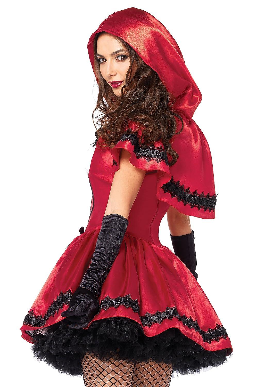 dfc2a9262e09 Leg Avenue 85230 - Costume per travestimento da Cappuccetto Rosso Gotico