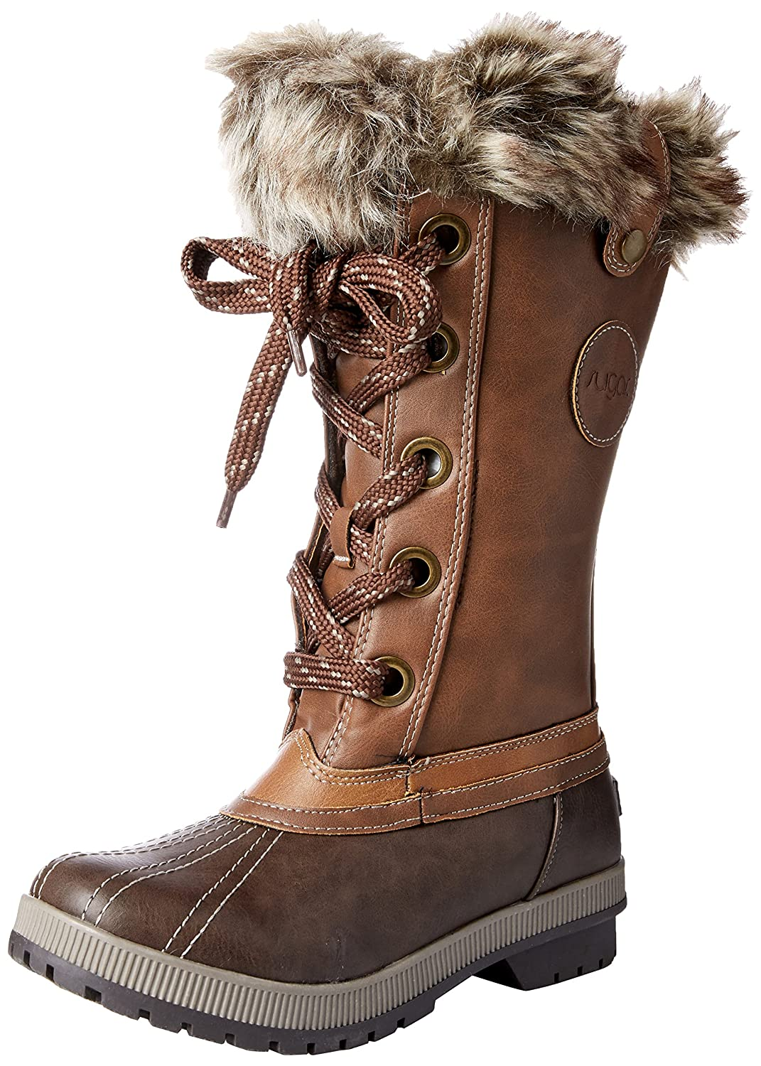 Sugar Women's Marlon Lace-up Snow Boot B076BXGVQT 8 B(M) US|Brown/Cognac