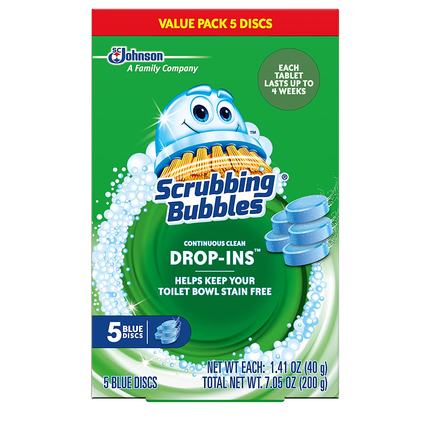 Scrubbing Bubbles Toilet Cleaner Drop Ins, 5 Count, 7.1 Ounce by Scrubbing Bubbles B015VBOE1S