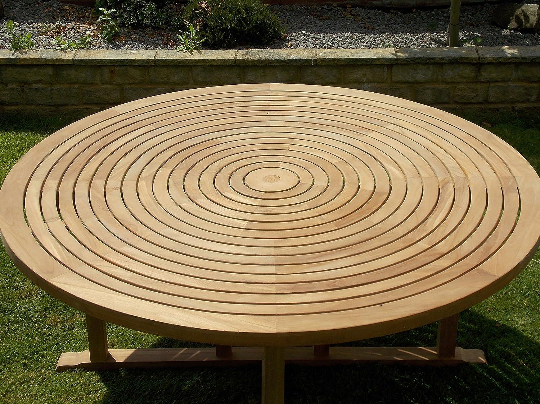 Table Ronde En Teck Avec Plateau Tournant.Chelsea Home And Leisure Ltd Teck Swirl Table 180 Cm Avec