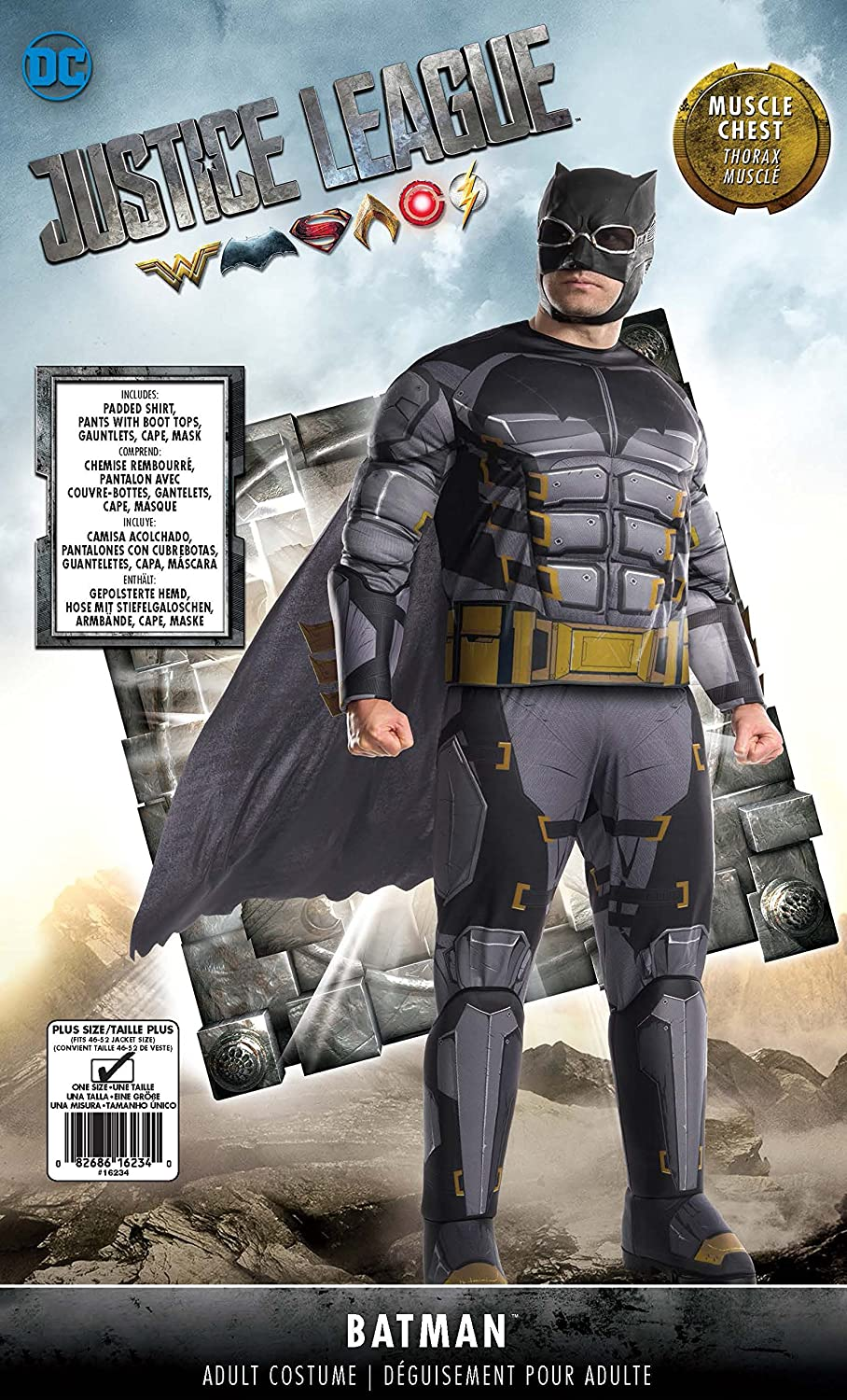 Amazon.com: Rubies Costume Co Mens Tactical Batman Adult Deluxe Costume, As Shown, Plus: Toys & Games