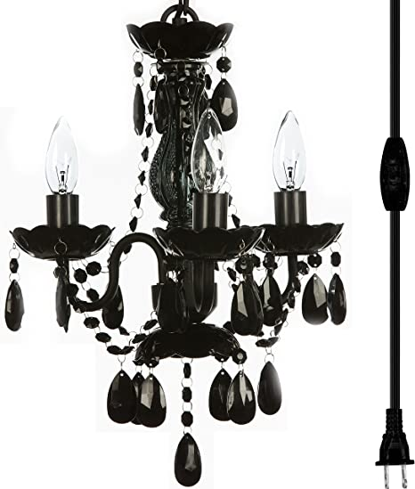 Shabby Metal Art Candle Lighting Chandelier Ceiling Lamp Acrylic Crystal Drops