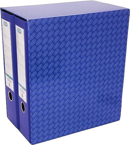 Elba Rado Top - Módulo 2 archivadores anchos, color azul: Amazon.es: Oficina y papelería