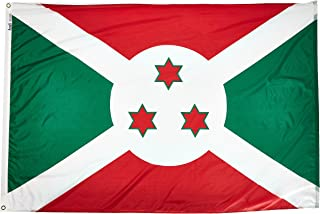 product image for Annin Flagmakers Model 191056 Burundi Flag Nylon SolarGuard NYL-Glo, 4x6 ft, 100% Made in USA to Official United Nations Design Specifications