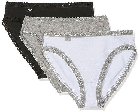 7de13b01da12 Sloggi Weekend Tai Knickers, Pack of 3 Cotton Elastane briefs:  Amazon.co.uk: Clothing