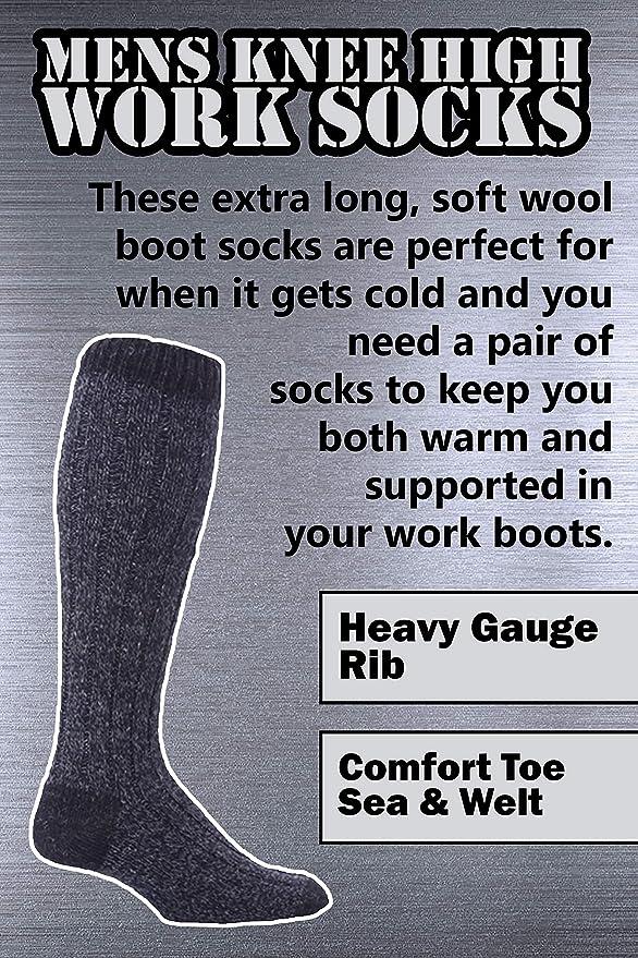 Workforce - Calzettoni da uomo alti al ginocchio 1d9ffb114f3f
