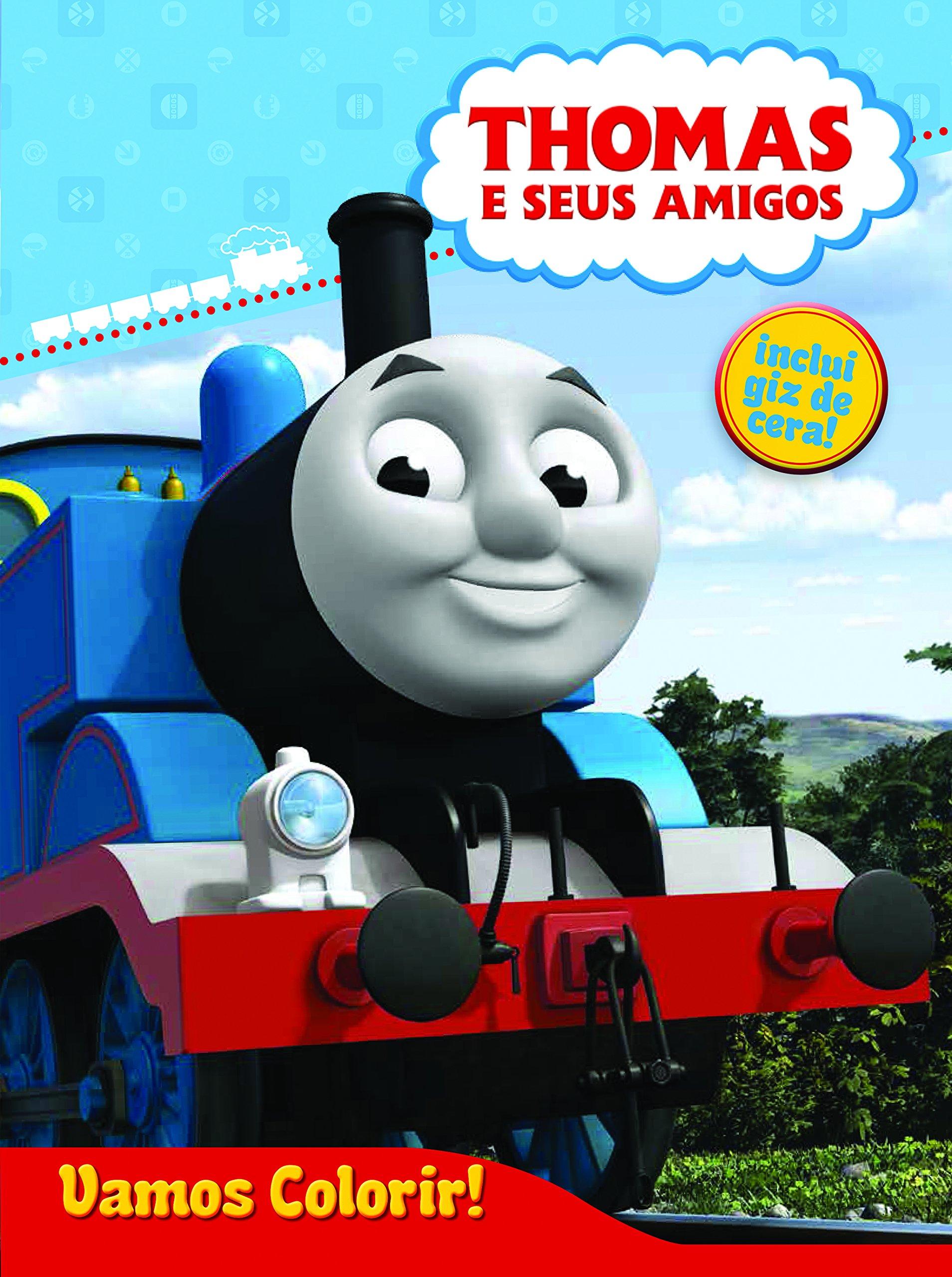 Thomas E Seus Amigos Colecao Vamos Colorir Inclui Giz De Cera