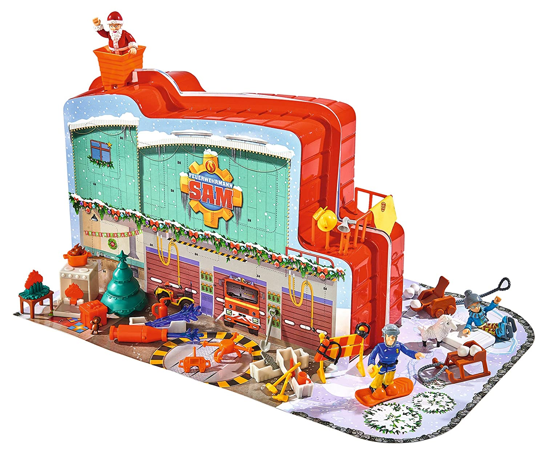 Simba 109258283 - Feuerwehrmann Sam Adventskalender zum Aufklappen 40 x 26 cm Simba Toys