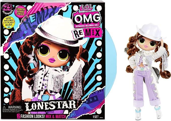 Amazon.com: L.O.L. Surprise! O.M.G. Remix Lonestar Fashion Doll – 25 Surprises with Music: Toys & Games