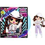 LOL Surprise OMG Remix Lonestar Fashion Doll, Plays Music with Extra Outfit, 25 Surprises Including Shoes, Hair Brush…