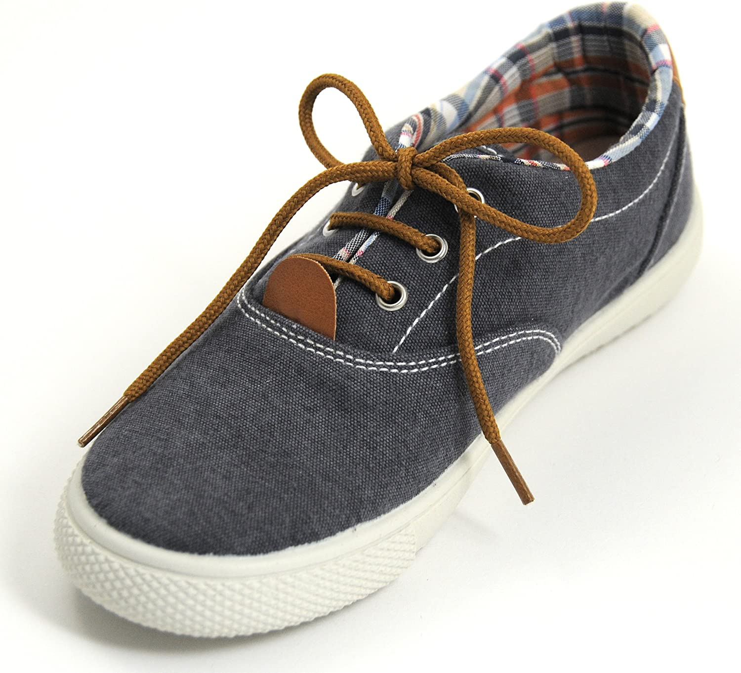Vulladi SAR Fashion Sneakers Boys Navy Blue,Lace-up and Leather Insole