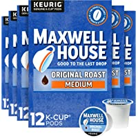 Maxwell House Original Roast Medium Roast K-Cup Coffee Pods (72 ct Pack, 6 Boxes of 12 Pods)