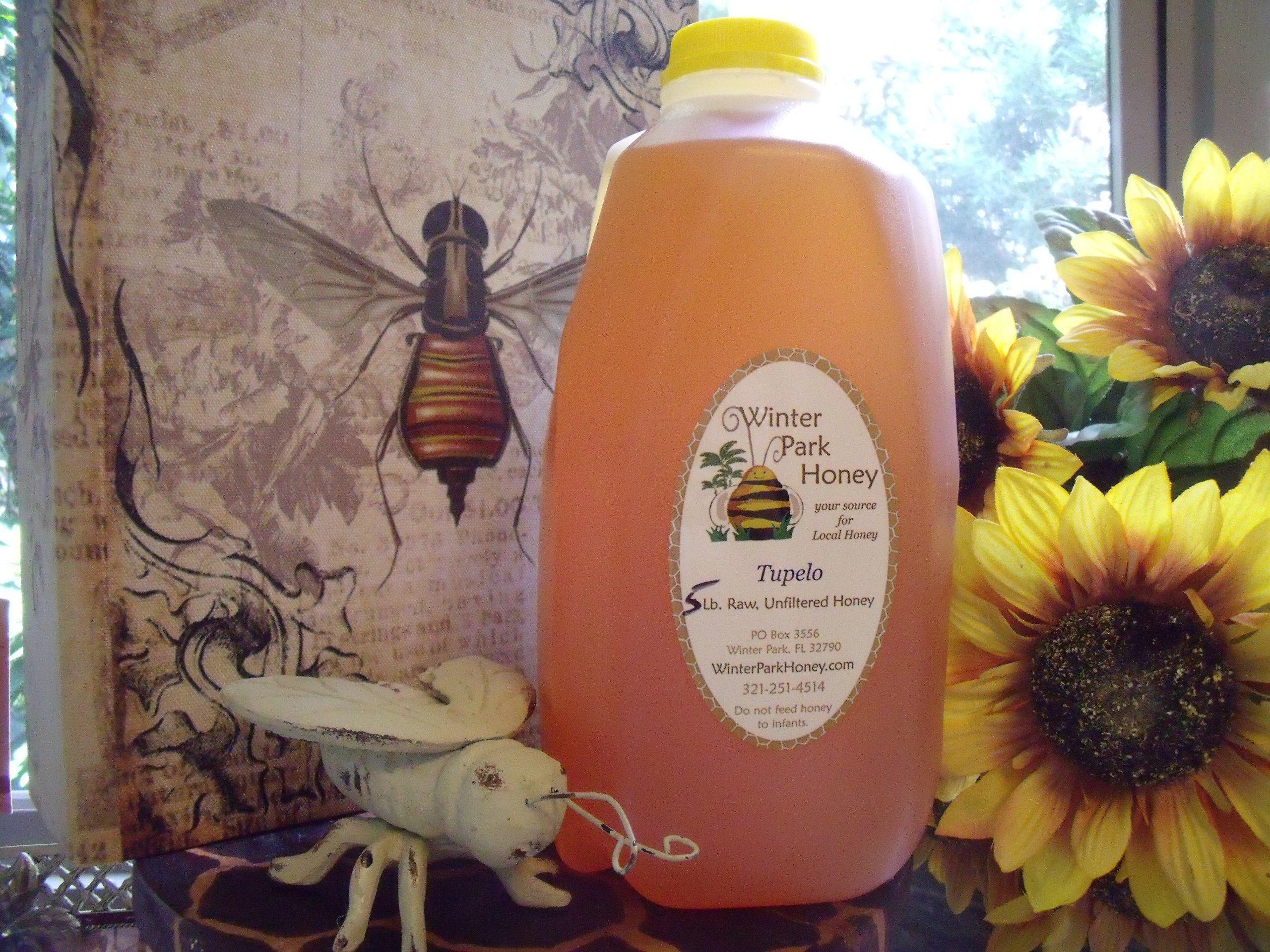 Tupelo Honey 5Lb (Pure Natural Raw Honey - 80oz)