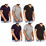JOTW 6 Pack of Men's Cotton V-Neck T-Shirt - Available in Small to XXLarge