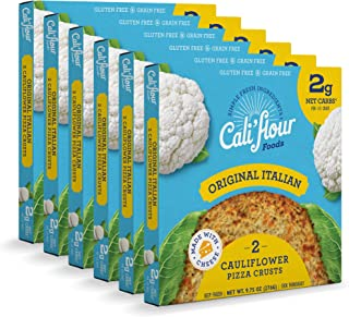 product image for Cali'flour Foods Pizza Crust (Original Italian, 6 Boxes, 12 Crusts) - Fresh Cauliflower Base | Low Carb, High Protein, Gluten and Grain Free | Keto Friendly