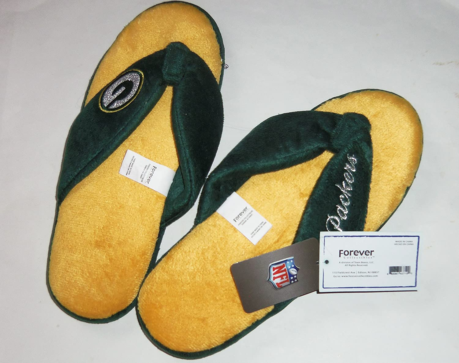Forever Collectibles NFL Green Bay Packers Mens Slip On Slippers