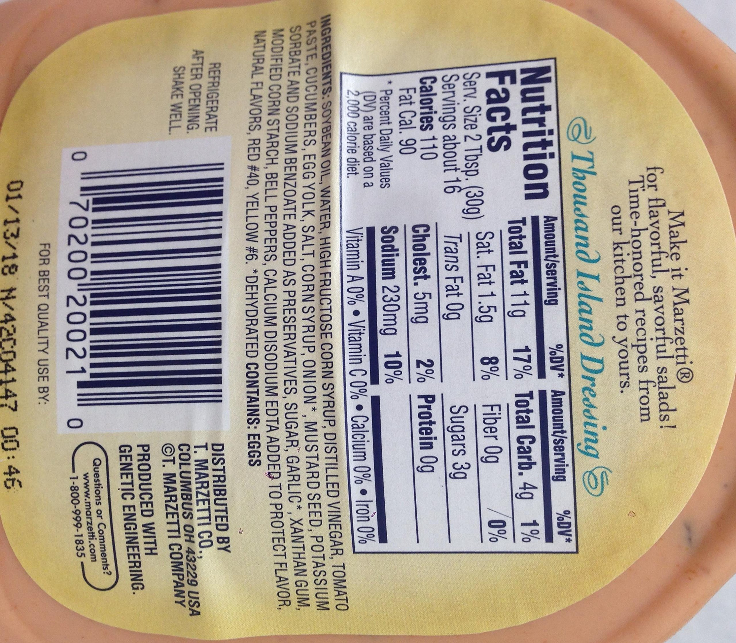 Marzetti Thousand Island Dressing 16 Oz. Pack Of 3.