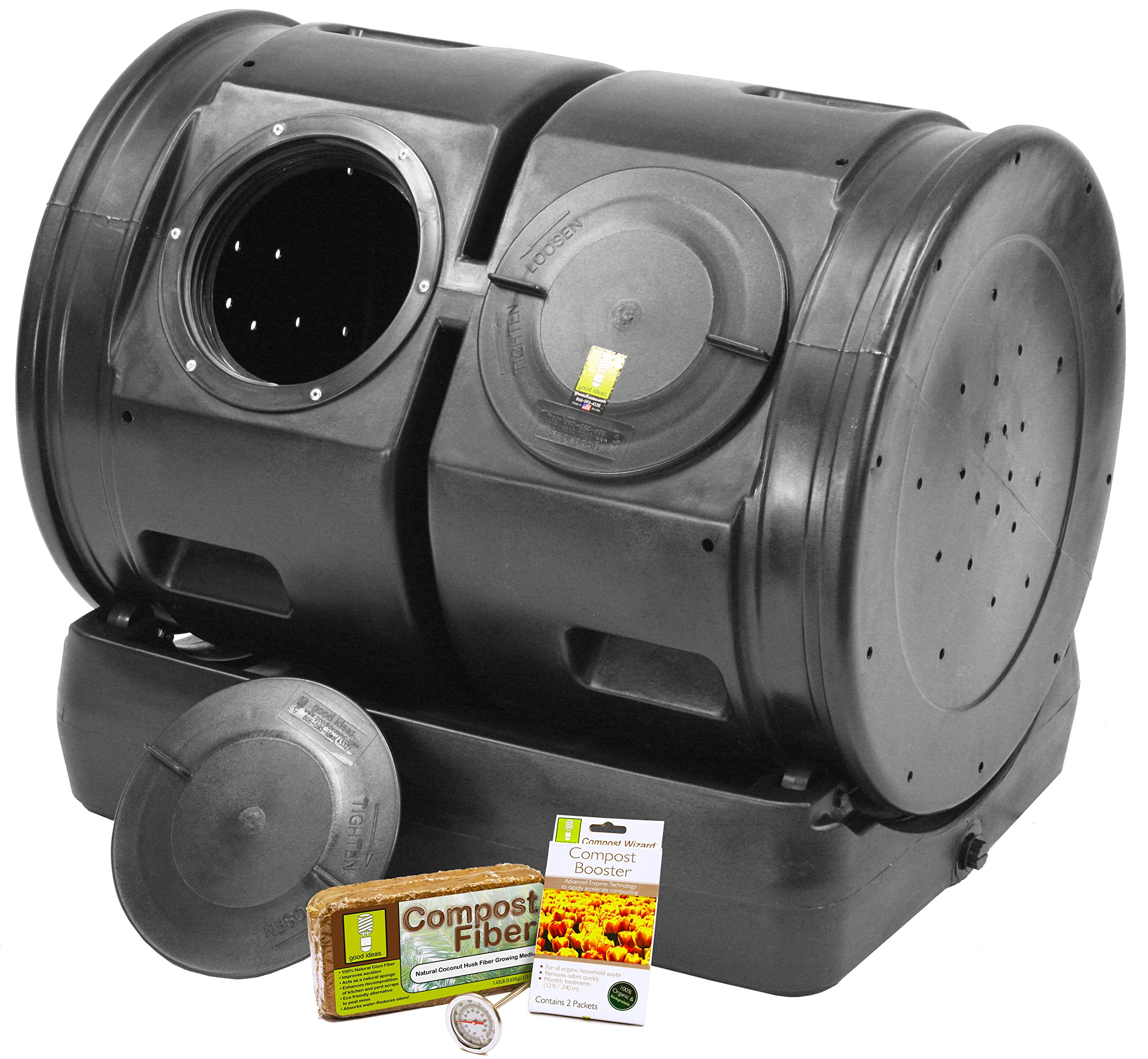 Good Ideas CW-2XS007 Compost Wizard Dueling Tumbler Starter Kit
