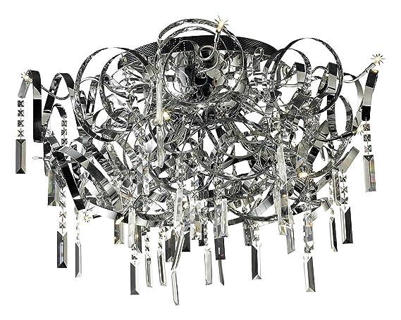 Plafoniere Con Foglie : Lampade lux lampada da soffitto plafoniera in vetro dina con foglie