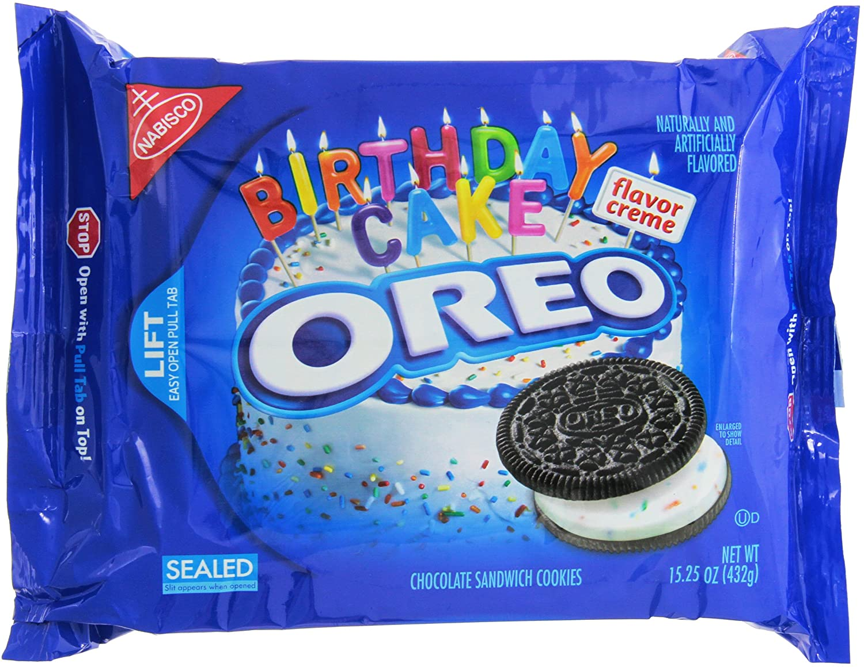 Marvelous Nabisco Oreo Birthday Cake Flavor Creme Chocolate Sandwich Cookies Funny Birthday Cards Online Alyptdamsfinfo