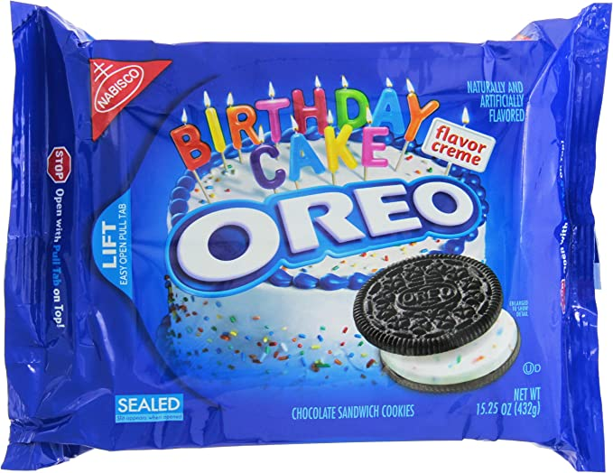 Brilliant Oreo Birthday Cake Chocolate 15 25Oz 432G Amazon Co Uk Grocery Funny Birthday Cards Online Elaedamsfinfo