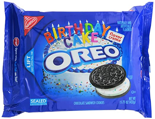 Oreo Birthday Cake Chocolate 1525oz 432g Amazoncouk Grocery