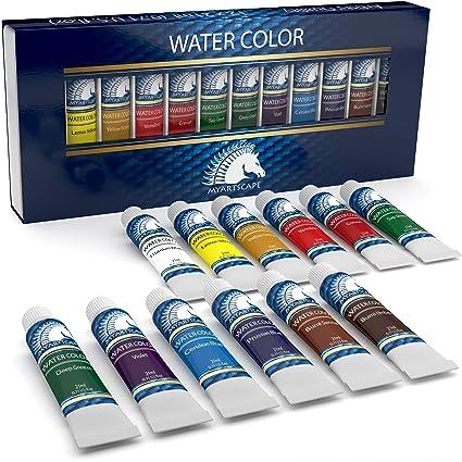 watercolor paint set artist quality paints 12 x 21ml vibrant colors rich pigments