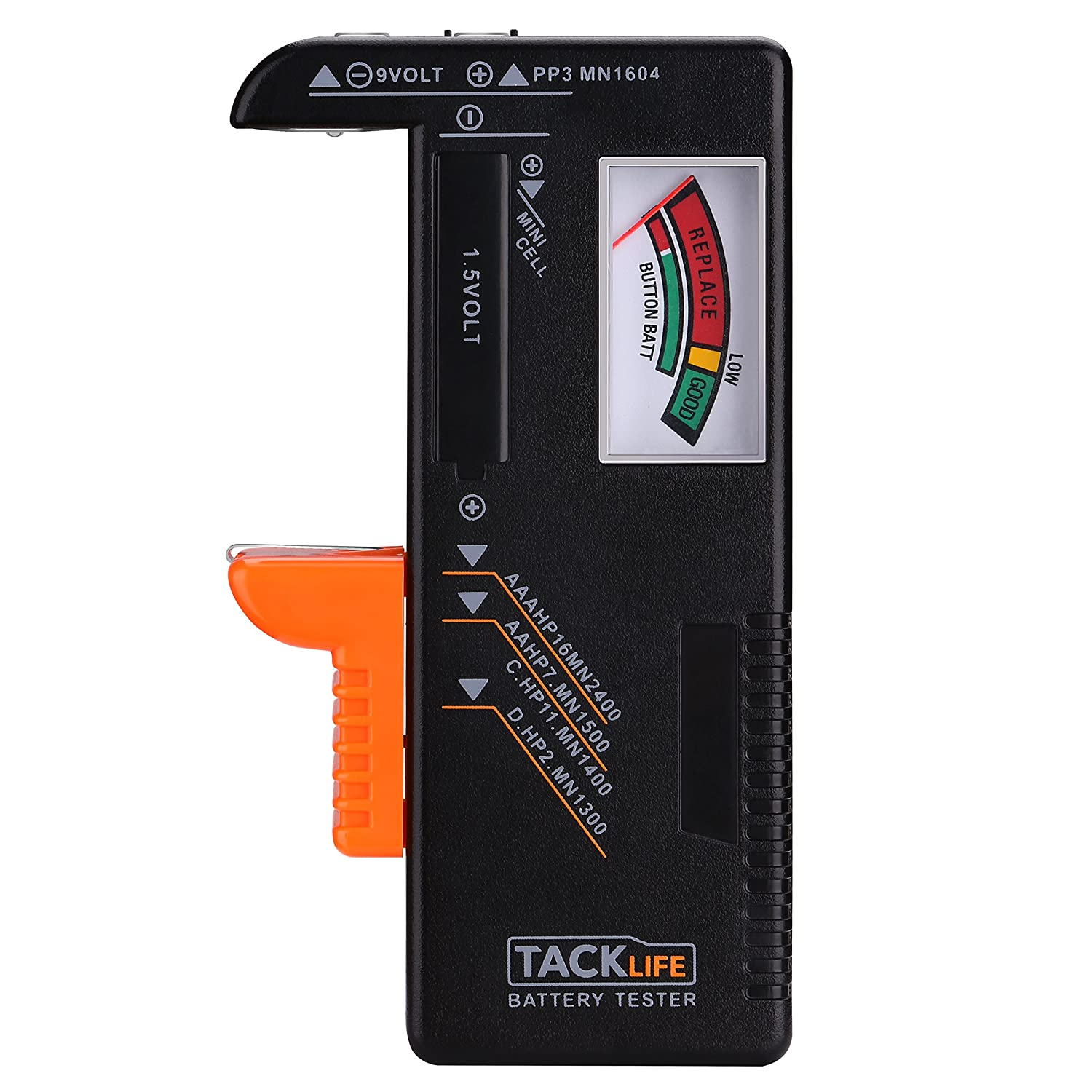Valentines Gift Tacklife MBT01 Battery Tester, Universal Battery Checker for AA AAA C D 9V 1.5V Button Cell Batteries with 24 Months Warranty, Perfect Valentines Day Gift