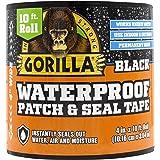 "Gorilla Waterproof Patch & Seal Tape 4"" x 10' Black, (Pack of 1)"