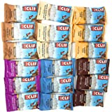 Clif Bar 18 Bars Six Flavor Variety Bundle: 3 Bars Each of Chocolate Brownie,White Chocolate Macadamia Nut, Carrot Cake, Blueberry Crisp, Chocolate Chip Peanut Butter, and PeanutToffee Buzz