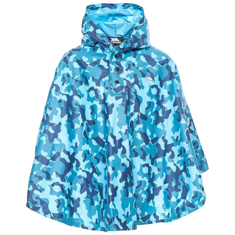 Trespass Childrens Boys Soldier Waterproof Packaway Poncho Jacket MCCLOTF30001_BLUEACH