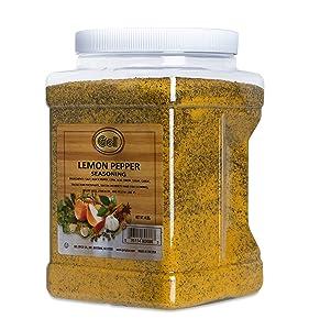 Gel Spice Lemon Pepper Seasoning 4 LB (64 OZ) Club Size