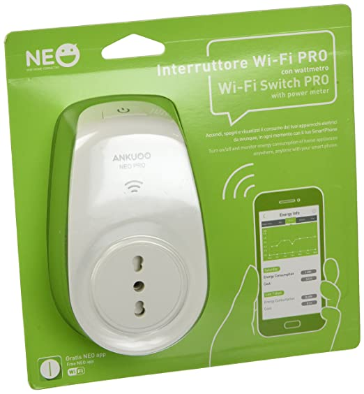 57 opinioni per Ankuoo NEO IT PRO SW8101M- Presa Wi-Fi Smart con Wattmetro