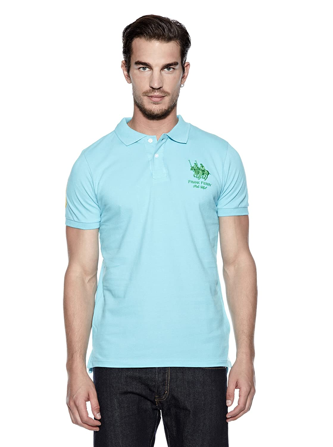 FRANK FERRY Polo Mark Turquesa S: Amazon.es: Ropa y accesorios