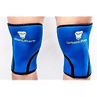 Urban Lifters Ginocchiere (Coppia) Crossfit 7mm Knee Sleeves Ottimo Supporto, Calore, Compressione e miglioramento delle Prestazioni per Squats, WOD's, Crossfit, Weightlifting, Powerlifting