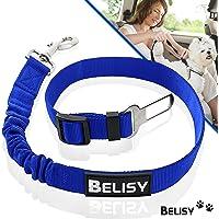 BELISY Hunde-Sicherheits-Gurt fürs Auto - höchste Sicherheit für Dich und Deinen Hund - mit besonders elastischer Ruckdämpfung für maximalen Komfort - passend für alle Hunderassen