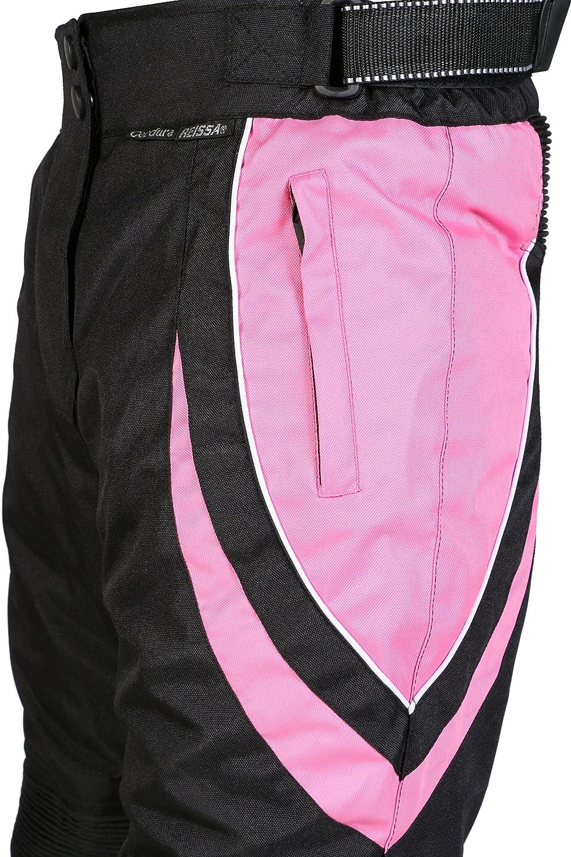 Tour de taille 32 Longueur 30 Pantalon de moto pour femme imperm/éable//protection certifi/ée CE noir et rose UK12 taille normale