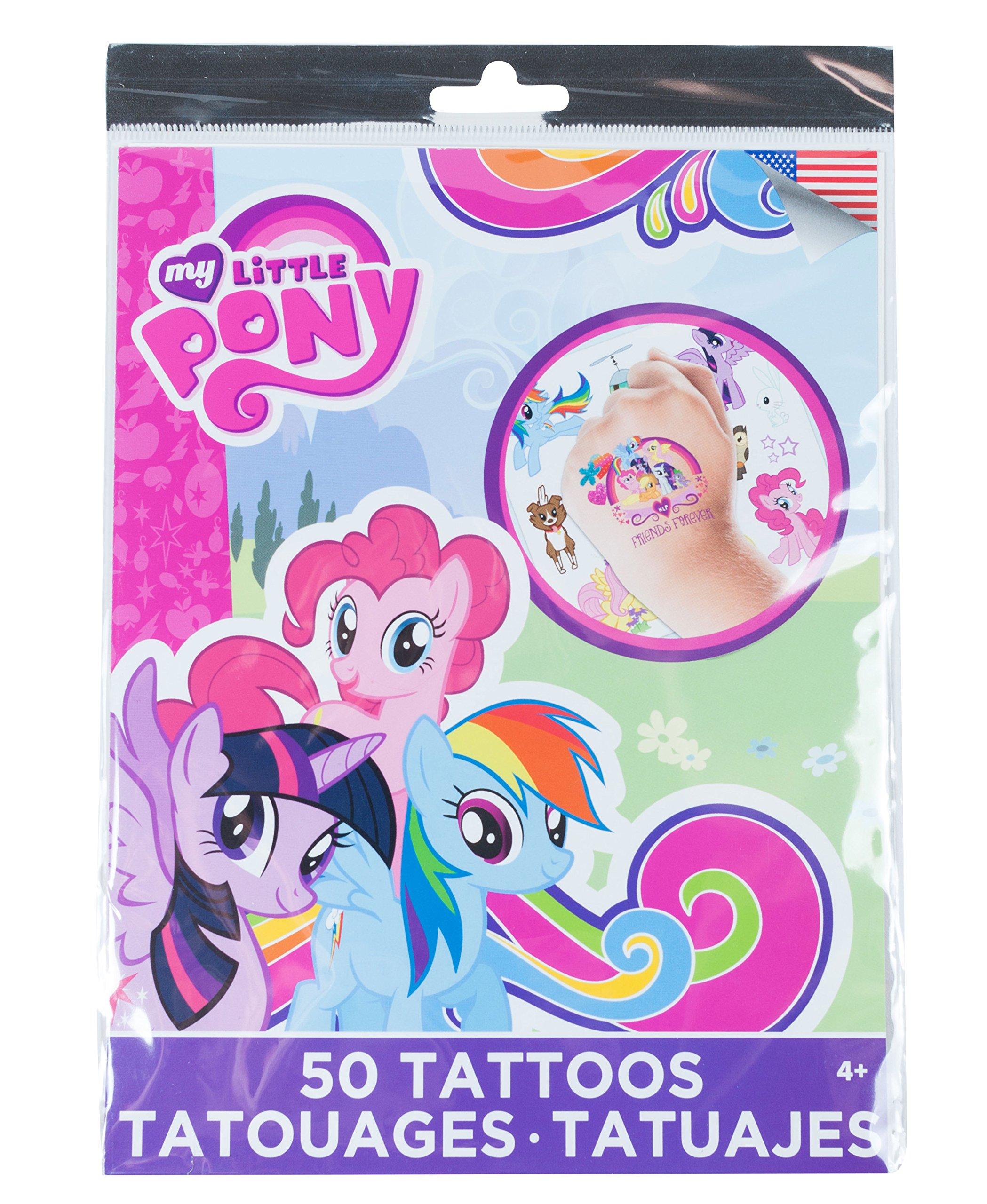 Savvi Disney Temporary Tattoos, Set of 50, Mylittlepony, 3-pack by Savvi (Image #1)
