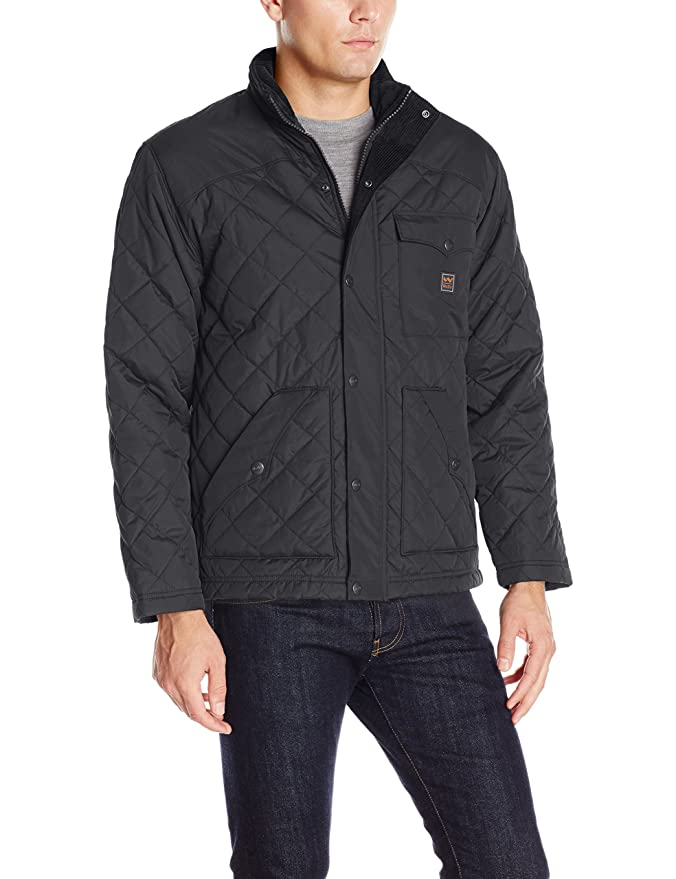 Amazon.com  Mens Ranch Quilted Nylon Poly Jacket  Clothing 3f5bacddd6f8